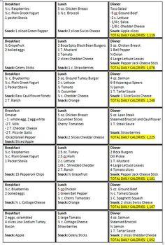 HCG Diet Menu Sample Printable | My Triumph: Phase 3 Sample Menu                                                                                                                                                                                 More