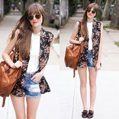 NYC floral day ❤ (by Steffy Kuncman) http://lookbook.nu/look/3693067-NYC-floral-day