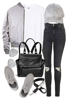 """""""Untitled #19804"""" by florencia95 ❤ liked on Polyvore featuring Topshop, Givenchy, Filling Pieces and Victoria Beckham"""