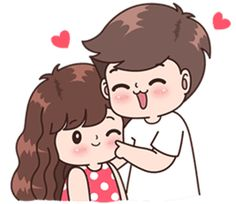 Parejas Sticker - Boobib Cute Couple Stickers Clipart is best quality and high resolution which can be used personally or non-commercially. Cute Chibi Couple, Love Cartoon Couple, Cute Couple Comics, Cute Love Cartoons, Cute Love Couple, Anime Love Couple, Cute Anime Couples, Cute Love Pictures, Cute Cartoon Pictures