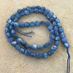 Kyanite Beads, Square Kyanite Beads, 16 inch strand, 6mm by marketplacebeads on Etsy
