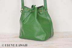 Louis Vuitton Green Epi Petit Noe Shoulder Bag M44104