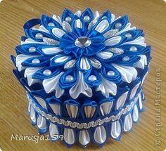 Поделка изделие 8 марта День матери День рождения Цумами Канзаши Мои первые шкатулочки Картон Ленты фото 2