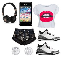 """""""DON TELL EM...."""" by jahyrahbaby ❤ liked on Polyvore featuring Beats by Dr. Dre"""