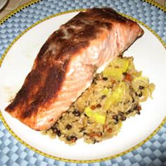 Wonderful to make for a picnic or hot day dinner.  So much better than a burger or a hot dog.  Cold Roasted Moroccan Spiced Salmon Allrecipes.com