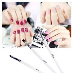 New Fashion Gel UV Nail Print Brush Set Polish Brush Kit Nail Art Design Painting Tool Pen -- Find out more about the great product at the image link.