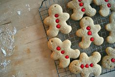 the ingredients resemble gingerbread but seem a bit simpler. Holiday Treats, Christmas Treats, Christmas Baking, Christmas Christmas, Spice Cookies, Cute Cookies, Man Cookies, Cute Christmas Cookies, Christmas Goodies