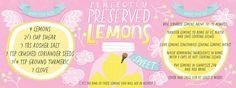 Perfectly Preserved Lemons by Salli Swindell Vegetable Illustration, Preserved Lemons, Coriander Seeds, Food Illustrations, Food Styling, Preserves, Print Patterns, Vegetables, Cooking