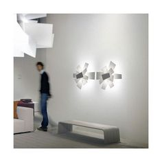 Foscarini/Big Bang    Very futuristic wall lamp which just makes you like it.