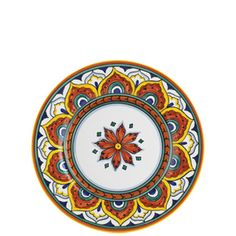 VIETRI -  Umbria Pavone Salad Plate: Mix 3 place settings of Deruta, Medici, Pavone and Ornato for a total of 12 place settings.