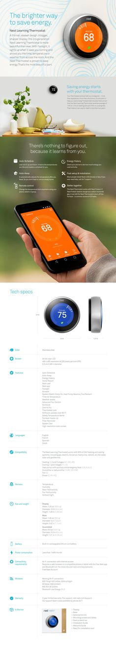 Nest Learning Thermostat, 3rd Generation - Sam's Club