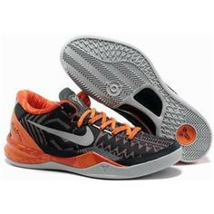 http://www.anike4u.com/ Cheap Kobe 8 Shoes Orange White Black Grey