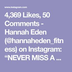 """4,369 Likes, 50 Comments - Hannah Eden (@hannaheden_fitness) on Instagram: """"NEVER MISS A MONDAY! Especially after a weekend full of fun and food! If you are participating in…"""""""