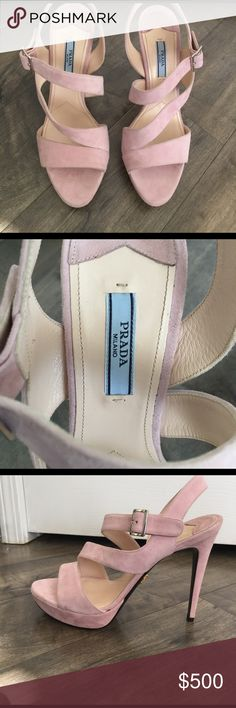 Prada heels Never worn Prada heels, I'm an 8-8.5 and they fit perfectly. Selling for 500$ obo Prada Shoes Heels