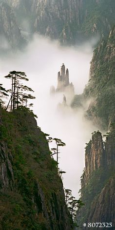 Huangshan (Yellow Mountain) National Park, China. Nature Landscape film photography