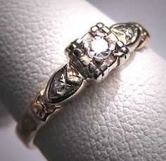 Antique Diamond Wedding Ring Victorian Art Deco Vintage via Etsy