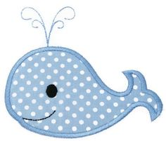 Boy Whale Machine Embroidery Applique by SimplySweetEmbroider, $4.00