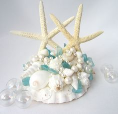 Hey, I found this really awesome Etsy listing at https://www.etsy.com/listing/97324462/beach-wedding-starfish-seashell-cake
