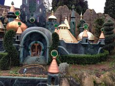 """The British Blog of Oz. Disneyland Paris. Fantasyland and take a ride on """"Les Pays Des Contes De Fees"""" or the Storybook Land ride as there is the Emerald City and some characters from Disney's Return to Oz on the stairs."""