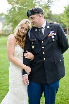 Military wedding: http://www.stylemepretty.com/illinois-weddings/barrington-illinois/2014/10/02/vintage-chic-backyard-summer-soiree/   Photography: Gina Cristine - http://ginacristinephotography.com/