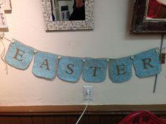Easter Burlap Banner
