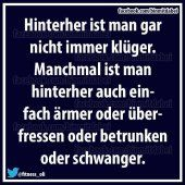 Hinterher ...