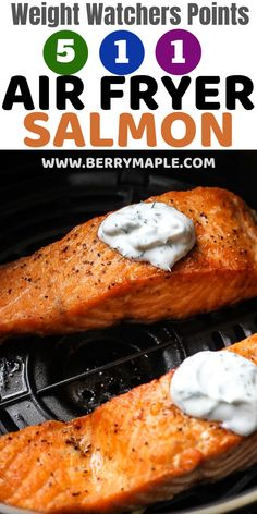 Air Fryer Recipes Discover Weight Watchers recipe Air fryer salmon fillets MyWW green plan blue plan and purple plan delicious Air fryer salmon fillets recipe Healthy meal with smartpoints calculated for you! Ww Recipes, Salmon Recipes, Fish Recipes, Cooking Recipes, Healthy Recipes, Salmon Meals, Recipies, Cooking Food, Kitchen Recipes