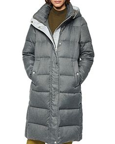 Andrew Marc Brushed Long Down Puffer Coat In Light Grey Down Puffer Coat, Down Parka, Down Coat, Wool Car Coat, Cowboy Boots Women, Cowgirl Boots, Western Boots, Riding Boots, Timberland Style