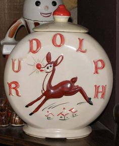American Bisque Rudolph Cookie Jar - this one is rare and would love to have it in my collection!