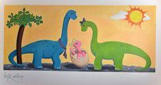 dinosaur mural for a baby girl by ~millie-gillana on deviantART