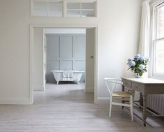 The Grey House Revival: Scandi whitewashed floors, etc