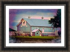 Metal Horse Barn Two Framed Print By Bonfire #Photography