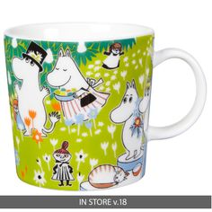 The adorable Tove 100 moomin mug 2014 from Finnish Arabia is a tribute to the famous author and illustrator Tove Jansson. In 2014 the the moomin charachters mother would have turned 100 years and the jubilee mug has its inspiration from Tove Janssons book Moomin Mugs, Tove Jansson, Centenario, My Collection, Finland, The Book, Hygge, Marimekko, Mugs