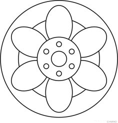 Free mandalas coloring > Flower Mandalas > Flower Mandala Design 19