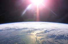 A rising sun and Earth's horizon are featured in this image photographed by an Expedition 13 crewmember on the International Space Station. Credit: NASA