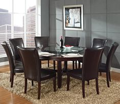 round dinning table with round lazy-susan