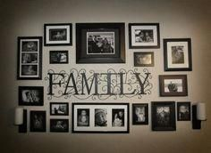 stunning living room wall gallery design ideas page 36 - Favorite Gallery Wall Pins - Pictures on Wall ideas Rustic Wall Decor, Rustic Walls, Family Wall Decor, Rustic Frames, Modern Frames, Family Room, Organisation Des Photos, Organization, Family Pictures On Wall