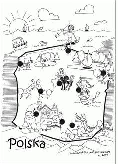 11 listopada...  w zwiazku z tym dziś zapraszam do zabawy i kolorwania mapy Polski oraz poznawania miast.  Pobierz i wydrukuj mapkę,  pokolo...