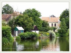 Telč castle gardens- the city from the river  | 2012-08
