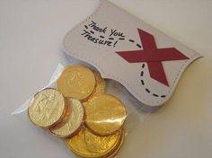 Tema: piratas  Monedas de chocolate
