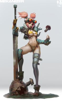 31 Girl Concept art by Paul Kwon Paul Kwon is a Concept Artist at Riot Games, Los Angeles, United St Female Character Design, Character Design References, Character Concept, Character Art, Concept Art, Fantasy Anime, Chica Fantasy, Fantasy Girl, Fantasy Characters