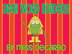 Included in this freebie pack are 5 word building printables with an April/spring theme. Students cut out the letters to create words.  They must a...