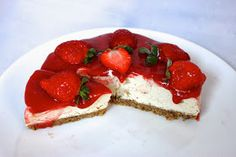 Carlota Cassou: Cheescake de fresa Crudivegana / Raw Strawberry Cheesecake