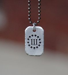3% hand stamped necklace