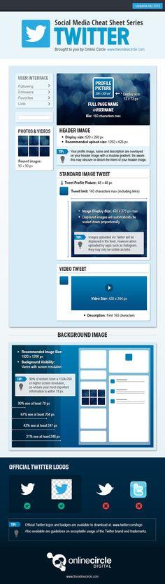 Social Media Cheat sheet series Twitter #infografia #infographic #socialmedia