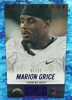 2014 HOT ROOKIES ARTIST PROOF #404 MARION GRICE RC 1/35 CHARGERS 50 CENT SHIP #SanDiegoChargers