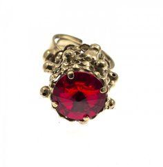 Metal plated ring with Swarovski crystal Greek Jewelry, Swarovski Crystals, Heart Ring, Plating, Jewelry Design, Jewellery, Metal, Rings, Accessories