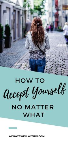 If you find it difficult to accept yourself, weaknesses and all, this article is for you. You'll learn 11 reasons why self-acceptance can be hard and a simple but powerful countermeasure for each one. // Always Well Within -- Self Development, Personal Development, How To Accept Yourself, Affirmations, Finding Inner Peace, Finding Happiness, Confidence Tips, Confidence Building, Feeling Inadequate