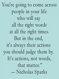Actions, louder than words