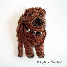 SHAR PEI chinois perles souvenir chien broche Pendentif broche art bijoux-cadeau pour elle / prêt à être expédier / Usa Free Shipping